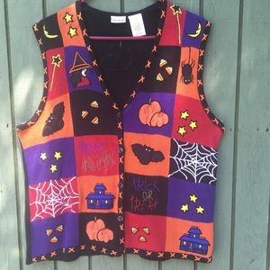 Bobbie Brooks Ugly Halloween Sweater Vest